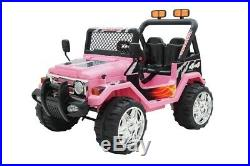 12V 2 Seater Kids Ride On Electric Battery Powered 4x4 Car Truck Jeep Pink