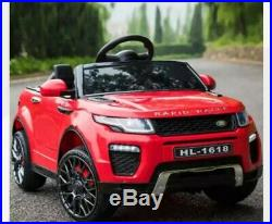 12V Range Rover Evoque Style Ride On Electric Battery Powered Car Kids red