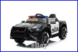 12v Police Kids Electric Ride On Battery Car With 2.4g Parental Remote Control