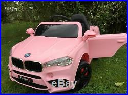 2018 KIDS BMW X5 STYLE RIDE IN ON CAR 12v ELECTRIC CAR PINK- Custom Number Plate