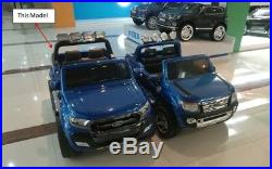 4wd New Ford Ranger F650 Kids Ride On Car Painted Black 4 Motors, Leather Seat