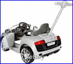 Audi R8 Ride On Push Along Car Childrens Kids Toddler Outdoor Wheel Steering Toy