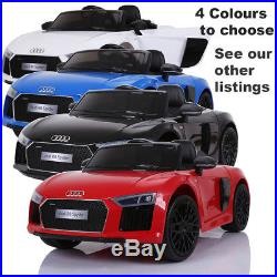 BLACK Audi R8 Spyder Electric Ride On Kids Car with PARENT REMOTE 3 8 years