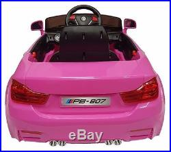 BMW hot pink M4 style kids electric ride on car 2019 model children/kids ride on