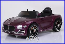 Bentley EXP12 12v Ride on Kids Car with Remote Metallic Carmine