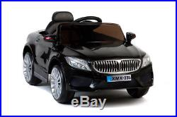 Black 535 Saloon, Suspension, RC, Kids' Electric Ride On Car