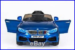 Boys Kids BMW M4 Style 12V Electric Ride On Car With Remote Control Blue