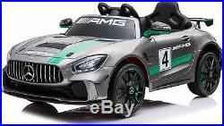 Childrens Mercedes Benz 12V GT AMG Ride On Luxury Car Electric Battery Kids