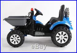 Dumper Truck Kids Ride On 12v Tipping Tractor Children Electric Battery Toy Car
