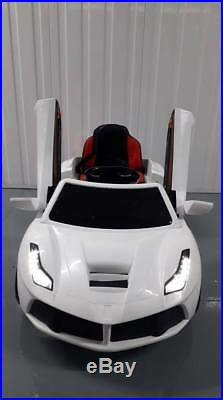 FERRARI STYLE 12V ELECTRIC KIDS RIDE ON CAR Leather Seat, Paint Colours, MP3, MUSIC