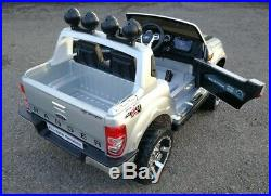 Ford Ranger Kids Ride On Car Painted Silver+ Leather Seat