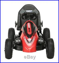 FoxHunter Electric Kids Go Kart Racing Pedal Ride On Car Rubber Tyre 12V Battery