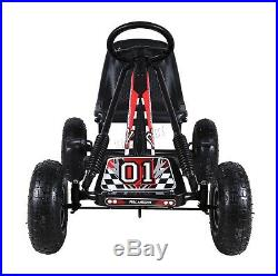 FoxHunter Kids Go Kart Ride On Car Pedal With Rubber Wheels Adjustable Seat G02