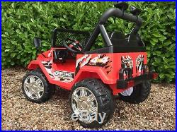 Kids 12v Electric Ride On Car Jeep 4x4 truck / 2 seater / 2.4g Remote Control