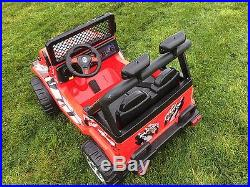 Kids 12v Raptor Electric Ride On Car 4x4 Jeep 2-seater Remote Control Red