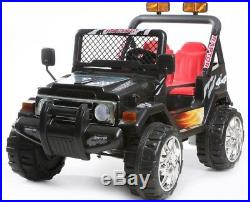 Kids 2 Seater Ride on 12v Electric Battery 4x4 Car Truck Jeep in Black