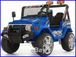Kids 2 Seater Ride on 12v Electric Battery 4x4 Car Truck Jeep in Blue