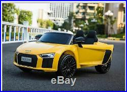 Kids Audi R8 Spyder Compact 12v Electric Licensed Ride on Car Child Jeep SUV Toy