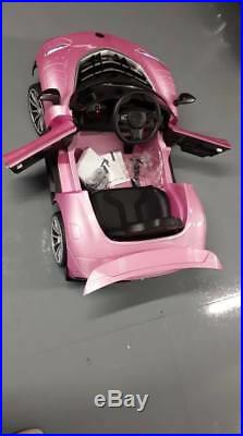 Kids Electric 12V Mercedes Sports Car Ride on for Girls with Light, Music, Extras