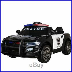 Kids Electric 12v Ride On Battery Police Car With Parental Remote Control