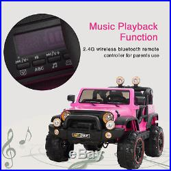 Kids Girls Electric Ride On Jeep Remote Control Sports Toy Car 12V Battery Pink