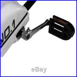 Kids Go Kart Ride On Car Pedal Racing Rubber Wheels Adjustable Seat Sports White
