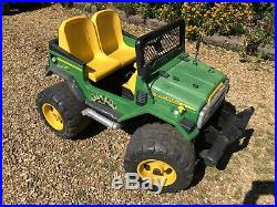 Kids John Deere 2 Seat Ride On 4x4 Jeep Electric Battery Childrens 12v Toy Car