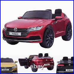 Kids Licensed 12V VW Arteon Electric Battery Ride On Car Leather Seat & Remote