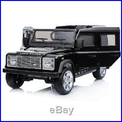Kids Licensed Land Rover Defend Electric Ride on Car Jeep 4x4 Black + Remote