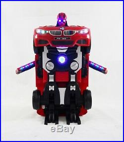 Kids New BMW Style Transformers Car 12V Battery Ride On Remote Car Action Figure