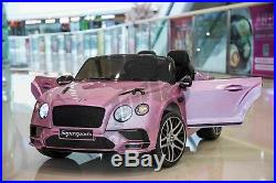Kids Official Licensed Bentley Continental Supersports 12V Electric Ride On Car