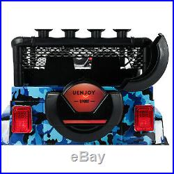 Kids Ride On Car 12V Electric SUV with 3 Speed&Music&2 Modes Camouflage Blue