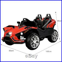 Kids Ride On Slingshot Car 12V Remote Control with 2 Seater 4 Speed 2 Modes Red