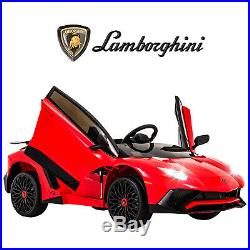 Lamborghini Aventador Official Electric 12V Kids Ride On Car Music Sports Red