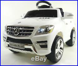 Licensed Mercedes ML 350 6v Electric Ride on Kids Toy Car with Remote White UK