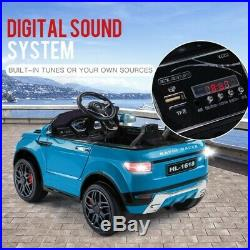 New Evoque Style 12v Kids Ride on Toy Car with Remote Blue