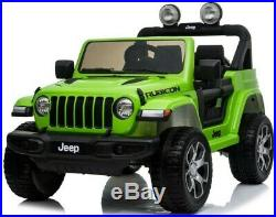 Official Jeep Wrangler Rubicon Kids 12V Electric Ride On Car 2.4G Remote Control
