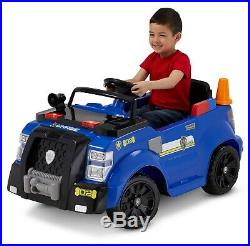 Paw Patrol Chase Police Cruiser Car 6V Ride On Kids Dog Cones Headlights PA New