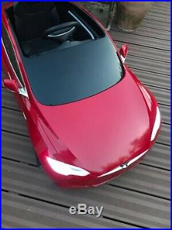 Radio Flyer Tesla Ride on Electric Electric Car for kids Red Immaculate