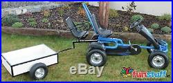 Strong Timber Trailer For Kids Pedal Go Kart / Cart, Ride-on Car Rubber Tyres