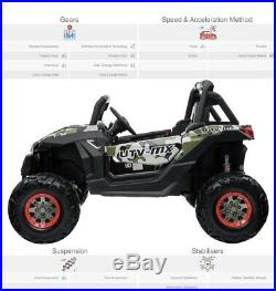 UTV MAX 24V Buggy Off Road 4WD Kids Electric Ride On Car Two Seater Buggy Camo