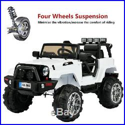 White SUV Kids Ride On Toy Car 12V Battery Electric Remote Control for Children